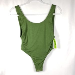 Sam Edelman Green Low Back Bodysuit